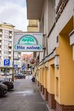 Vita Natura shop. Sign on a building in the city center on circa January 2018 in Poznan, Poland stock photo