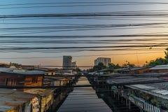 Vita nei bassifondi di Bangkok Fotografia Stock Libera da Diritti