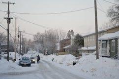 Vita nel Canada -- Inverno Immagini Stock