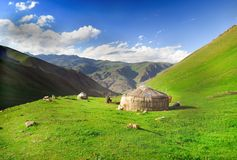 Vita nomade nel Kirghizistan fotografia stock