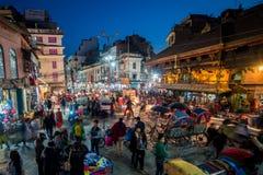 Vita notturna di Kathmandu Immagine Stock Libera da Diritti
