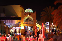 Vita notturna in Muttrah, moscato Oman fotografia stock libera da diritti