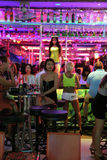 Vita notturna a Pattaya Fotografia Stock