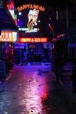 Vita notturna sopra in Tailandia Fotografia Stock