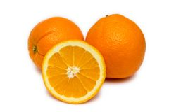 vita nya apelsiner Royaltyfri Fotografi