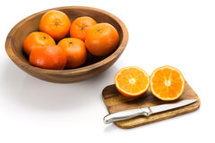 vita nya isolerade apelsiner Arkivbilder
