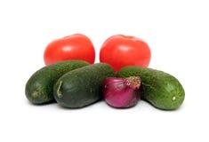 vita nya isolerade grönsaker Royaltyfria Bilder
