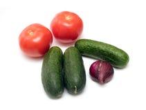 vita nya isolerade grönsaker Arkivbild