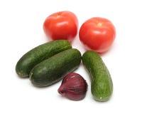 vita nya isolerade grönsaker Fotografering för Bildbyråer