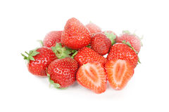vita nya isolerade jordgubbar Arkivbild