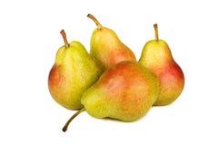 vita nya isolerade pears Arkivfoton