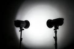 Vita och ljusa Shape som skapas med studioljusexponeringar Arkivfoto