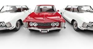 Vita och röda klassiska amerikanare Arkivbild