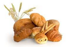 vita olika rullar för bröd royaltyfri bild