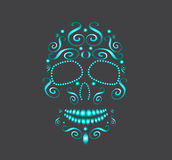 Vita pärlor för skalle för modedesigngräsplan vektor illustrationer