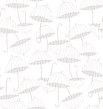 vita paraplyer modell Arkivbild
