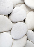 vita pebbles Arkivbilder