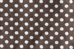 Vita polkadots på brunt Arkivfoto