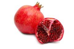 vita pomegranates Arkivbilder