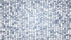 Vita prickar som blinkar den abstrakta flimrande glänsande rörande partikelväggen för ögla stock illustrationer