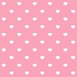 Vita prickhjärtor på rosa bakgrund Royaltyfri Bild