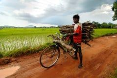 Vita quotidiana di Orissa Immagine Stock