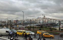 Vita quotidiana nel centro storico di Costantinopoli Immagini Stock Libere da Diritti