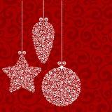 vita röda stjärnor för abstrakt för bakgrundsjul mörk för garnering modell för design Arkivbilder