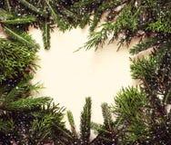 vita röda stjärnor för abstrakt för bakgrundsjul mörk för garnering modell för design Barrträds- filiallögn i en cirkel tonat Fotografering för Bildbyråer