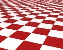 vita röda tegelplattor för golv stock illustrationer