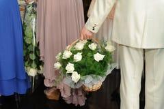 Vita Rose Bouquet Royaltyfri Fotografi