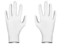 Vita rubber handskar Royaltyfria Bilder