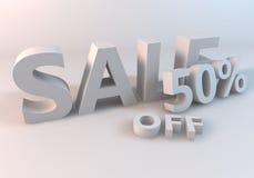 Vita Sale 50% Arkivfoton