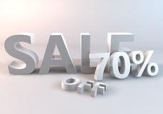 Vita Sale 70% Arkivfoto