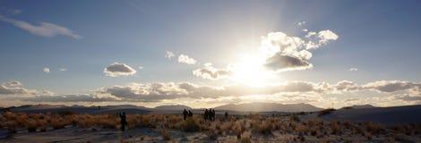 Vita sander som är nya - Mexiko Arkivfoto