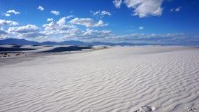 Vita sander som är nya - Mexiko Arkivbild