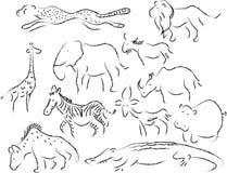 Vita selvaggia africana illustrazione vettoriale