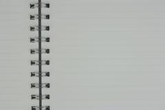 Vita sidor av anteckningsboken är öppna Arkivbilder