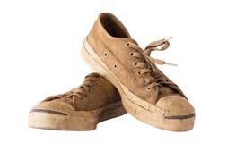 Vita skor smutsar ner Arkivbilder