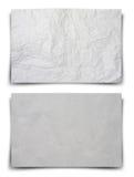 Vita skrynkliga papperen för bakgrund Fotografering för Bildbyråer