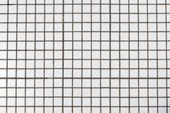 Vita smutsiga keramiska tegelplattor vägg eller golv för bakgrundstextur royaltyfria bilder