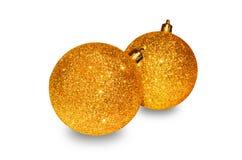 vita spheres för jul 3d Arkivfoton