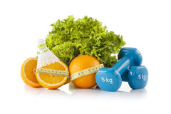 Vita, sport e dieta sani Fotografia Stock
