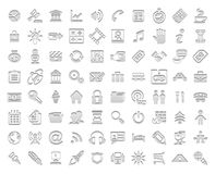 Vita stämpelsymboler Arkivfoton