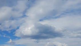 Vita stackmolnmoln i bl? himmel - tidschackningsperiod
