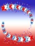 vita stjärnor för blå red Royaltyfria Bilder