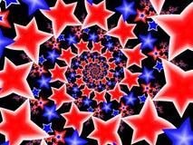 vita stjärnor för blå red vektor illustrationer