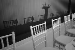Vita stolar Arkivfoton