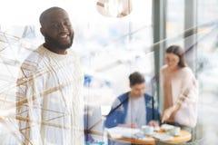 Vita su dell'afroamericano positivo Fotografia Stock