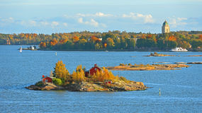 Vita sulle isole Isola dell'arcipelago di Helsinki immagine stock